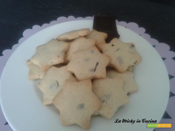 Biscotti con gocce di cioccolato - versione anche senza glutine