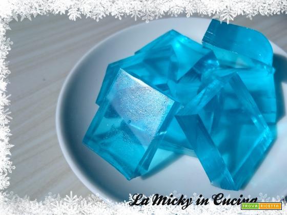 Ghiaccio di Kristoff - Gelatine azzurre