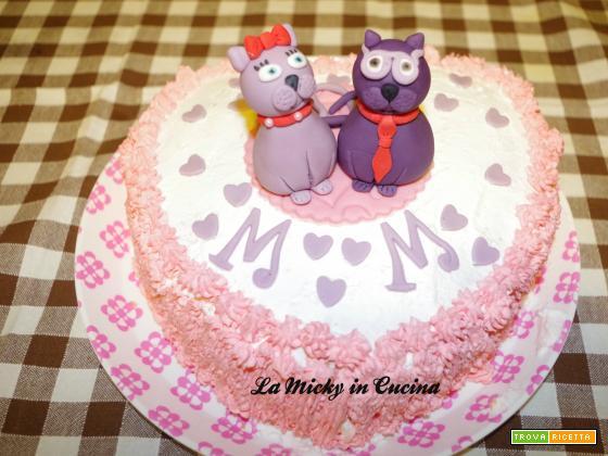 Torta di San Valentino Gattini innamorati in pdz