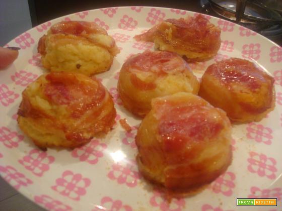 Tortini di patate con pancetta