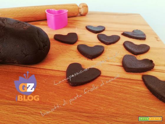 Biscotti di pasta frolla cacao