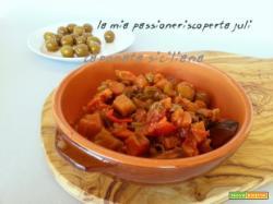Caponata siciliana capperi olive verdi sedano cipolla