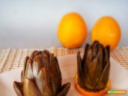 Carciofi e arancio a vapore