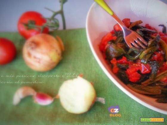 Cicoria al pomodoro saltata in padella