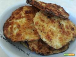 Cotoletta di melanzane fritte uova farina pane macinato