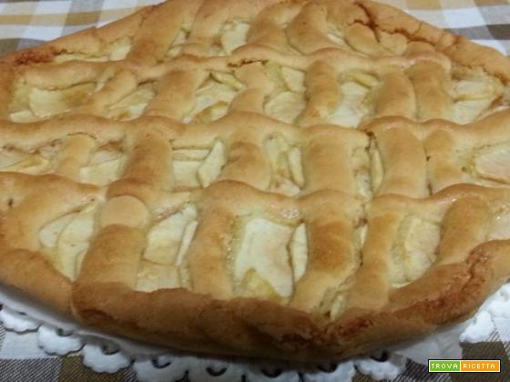 Crostata alle mele pasta frolla mele burro scorza di limone fecola