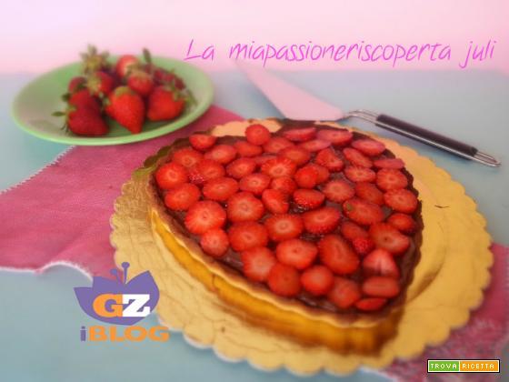 Crostata di fragole e nutella