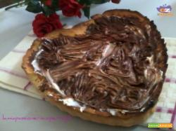 Crostata mascarpone e nutella pasta frolla