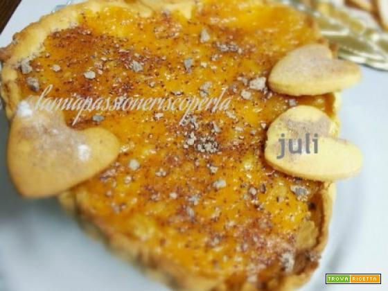 Crostata per san valentino marmellata all'arancio
