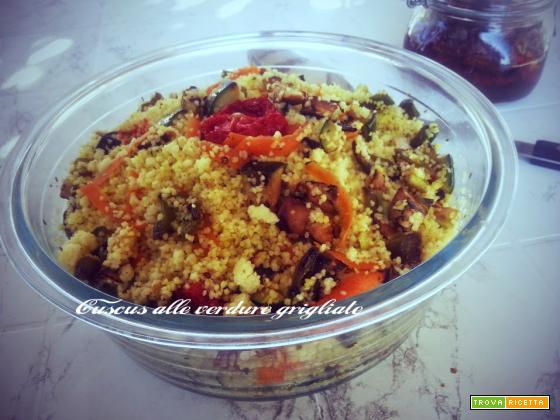 Cuscus alle verdure grigliate, melanzane, peperoni, zucchine
