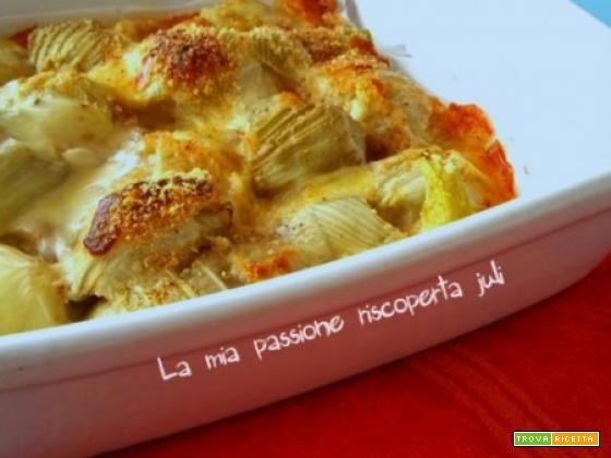 Finocchi gratinati al forno e formaggi