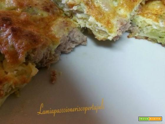 Frittata di broccoli e salsiccia Siciliana