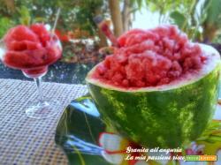 GRANITA ALL'ANGURIA rinfrescante frutto estivo