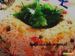 Insalata russa conti riso di verdure mais carote limone olive nere...
