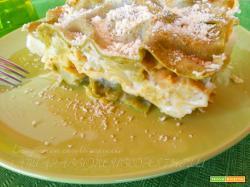 Lasagne con cavolo capuccio, broccolo, parmigiano besciamell