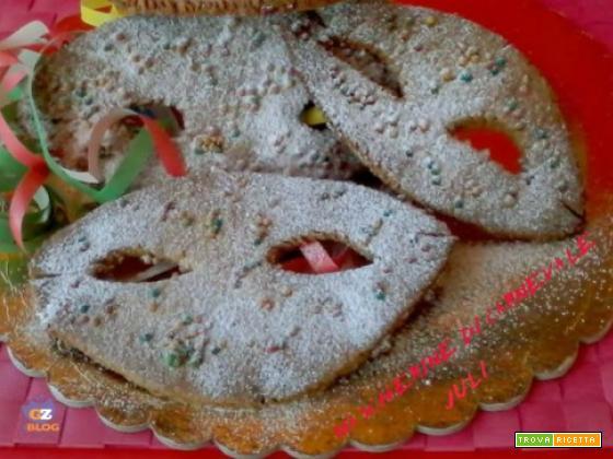 Maschere di carnevale pasta frolla
