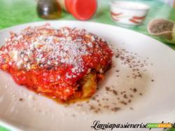 Melanzane alla parmigiana, basilico pomodoro melanzana