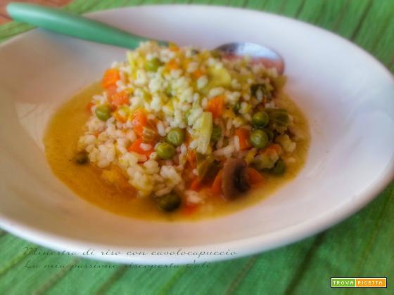 Minestra di riso con cavolo capuccio