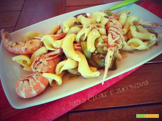 Pasta cicale e zucchine, cannochie