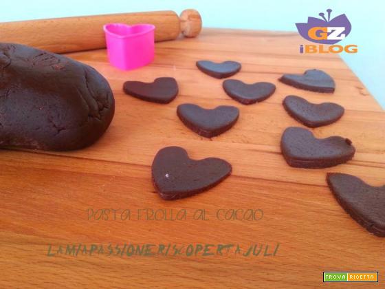 Pasta frolla al cacao, biscotti, crostata