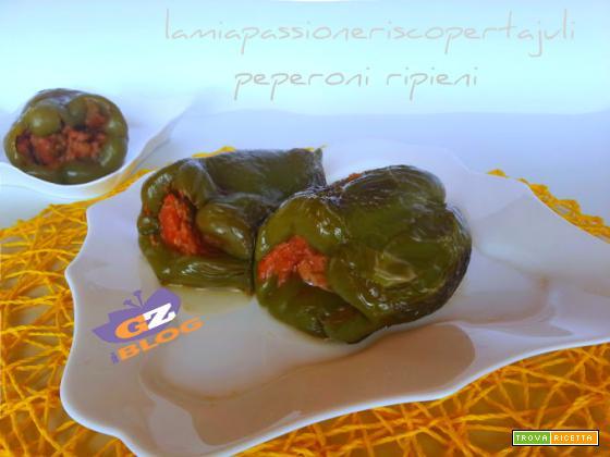 Peperoni ripieni di ragu