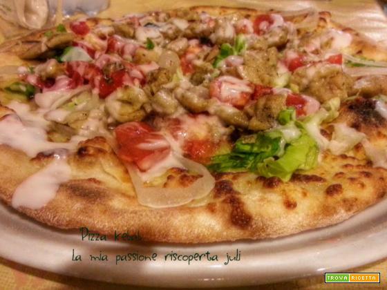 Pizza kebab, senape mostarda