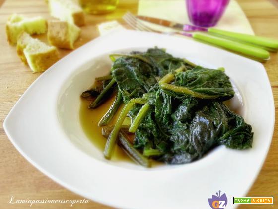 Qualedda bollita all'olio verdura siciliana