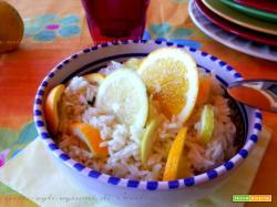 Risotto agli agrumi di Sicilia, limone arancio