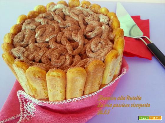 Tiramisu alla Nutella, mascarpone savoiardi