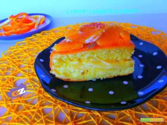 Torta all'arancia con crema di arancia
