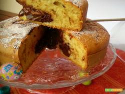 Torta con crema di cioccolato bimby