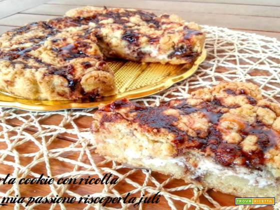 Torta cookie con ricotta, cookies