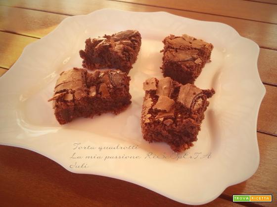 Torta quadrotti parodi, cioccolato