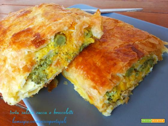 Torta salata zucca e broccoletti
