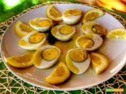 Uova sode con limone, finocchietto