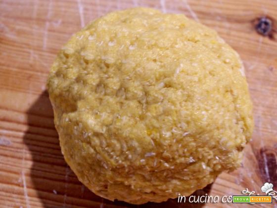Pasta frolla al cocco senza riposo