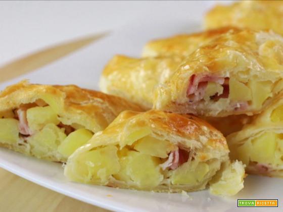 Strudel di patate e prosciutto cotto
