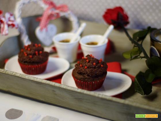 Muffin al doppio cioccolato di San Valentino