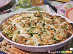 Crostone pane zucchine e mozzarella