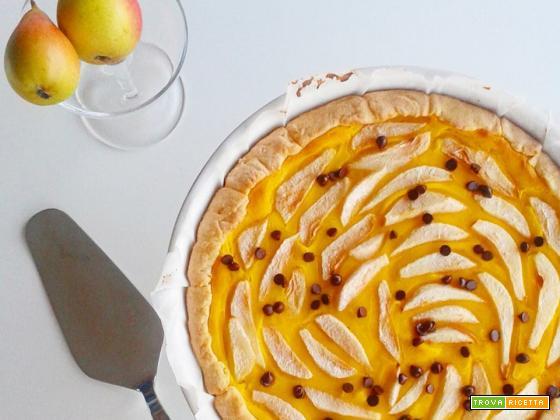 Crostata con crema alle pere