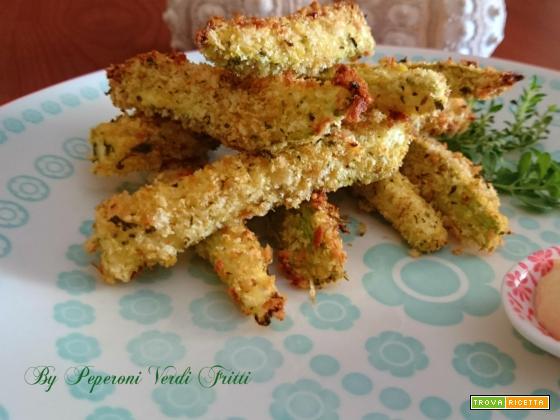 Bastoncini di zucchine aromatizzate al forno