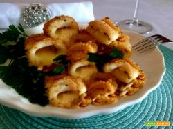 Calamari gratinati ripieni di provola