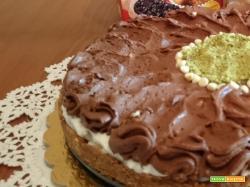 Cheesecake al mascarpone e gocce di cioccolato fondente