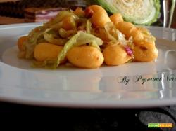 Gnocchetti di polenta con verza e pancetta