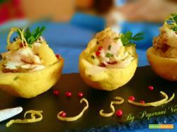 Insalata di cernia e patate in gondola