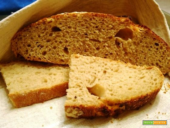 No Knead bread con farina macinata a pietra