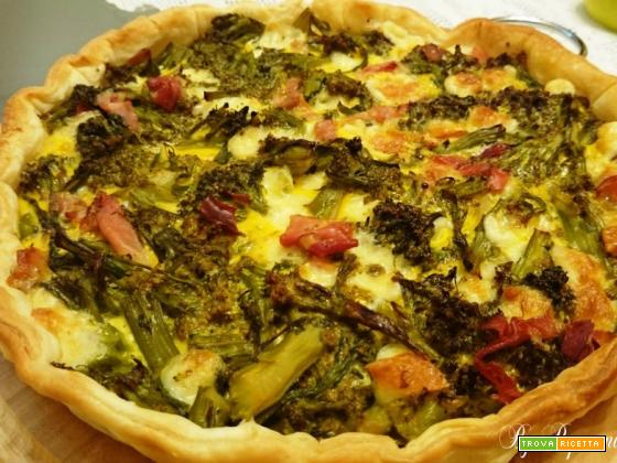 Quiche con broccoli e speck