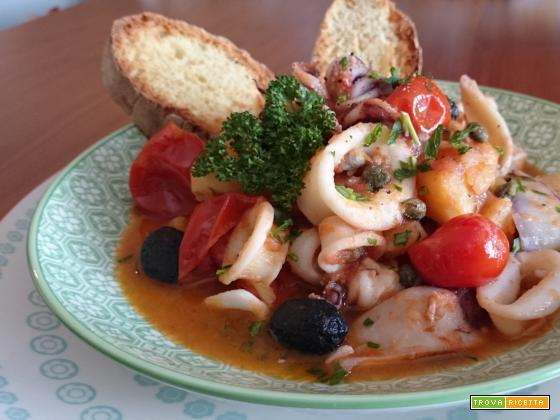 Zuppetta di calamari e patate