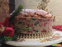 Panettone basso vegano con mandorle e uvetta sultanina