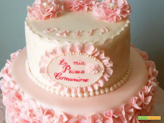 Ruffle Cake Prima Comunione
